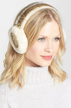 UGG® Australia Glitter Shearling Earmuffs available at #Nordstrom