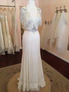 Lace Bell Sleeve Wedding Dress | Vintage Backyard Wedding ...