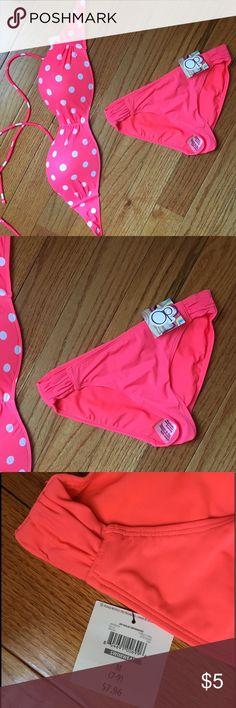 Hot Pink Bikini bottoms  Hot pink bikini bottoms with side ruching. Op Swim Bikinis