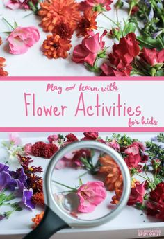 From flower patterning to a flower sensory tray, these simple flower activities for kids are easy to prepare and fun to make and play. Flower Activities For Kids, Fun Snacks For Kids, Spring Activities, Craft Projects For Kids, Nature Activities, Preschool Crafts, Easter Crafts, Preschool Ideas, Healthy Kids