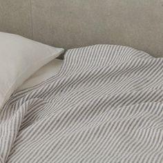 Linen Chambray Towels: Navy Stripe – Shop Fog Linen