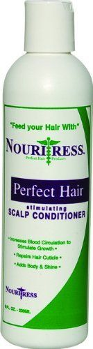NouriTress Perfect Hair Stimulating Scalp Conditioner 8 oz by NouriTress. $10.65. Benefits:  (Increases Blood Circulation to Stimulate Growth, Repairs Hair Cuticle, Adds Body & Shine). *NouriTress Perfect Hair Stimulating Scalp Conditioner is a treatment conditioner to work along with the NouriTress Shampoo. This therapeutic formula is designed to repair the hair cuticle, add Body & Shine to the hair and Increase blood circulation as it stimulates the scalp. Your scalp ...