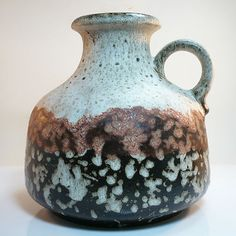 West German Pottery Vase • Fat Lava • Scheurich • mint condition