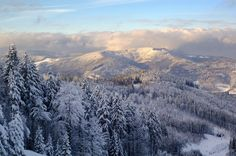 Amazing winter landscape - Beskydy Mountains, Czech Republic