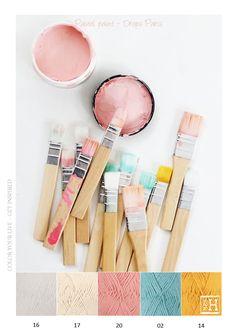Kleurinspiratie - Pastel paint garen van Drops Paris