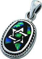 Davidster Semi opaal 13 millimeter - Israelische Sieraden -De christelijke Webshop