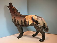 call of the wolf collection | CALL OF THE WOLF-Moonlight Sonata Wolf Figurine-New In Box