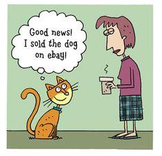 Funny cat cartoon Archives - MyThreeCats.com CatBlog