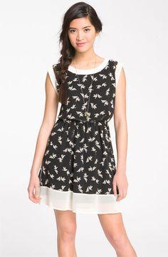 Lush Printed Chiffon Frame Dress (Juniors) $46.00  *Ok, it's Juniors, but it's still adorable!*