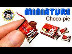 """미니어쳐 먹을 수 있는 """"초코파이"""" 만들기 +ㅁ+ Miniature Real Choco Pie - YouTube"""