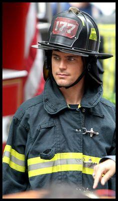 Every woman's fantasy!!  Matt Bomer as Neal Caffrey as a fireman!!!  I'm dying!