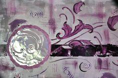 Tableau abstrait design , violetta purple de chrisma passion sur DaWanda.com