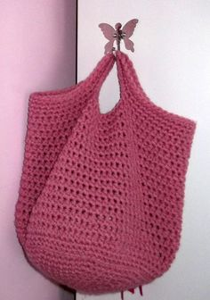 This is a great pattern for a beginner in crochet, but you need to know how to work in the round. The bag can be used for storage or as a shopping bag. You can use different colours or create a stripe pattern. You can make it bigger or smaller to suit your needs. This is a fun bag that can be customized for girls, boys, men and women. Children would especially love this bag to play shopping games with, or make it Christmas themed to make your gift giving more personal. It could even be a…