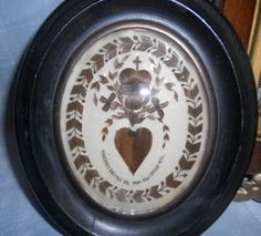 This particular piece of framed victorian hair art always plays on my mind.  Note the details - the heart and little cross in particular.  *Sigh*  To own a piece like this..  #Victorian #Mourning #Hair art