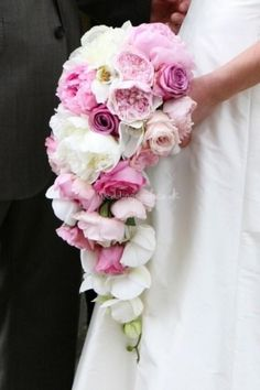 Amazing cascade bouquet from Claire Moore Flowers