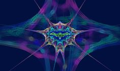 Abstrakte Fantasie in blau, auch mit anderem Hintergrund möglich!