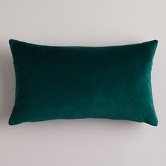 One of my favorite discoveries at WorldMarket.com: Bistro Green Velvet Lumbar Pillow
