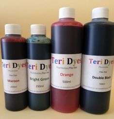 Teri Phormalan dyes for flax.