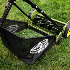 Sun Joe® 16 Inch Manual Reel Mower with Grass Catcher Reel Lawn Mower, Walk Behind Lawn Mower, Landscaping Tools, Golf Bags, Catcher, Baby Car Seats, Baby Strollers, Grass, Manual