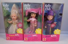 1999 Mattel Kelly Club Princess Kelly Jester Jenny Wizard Melody