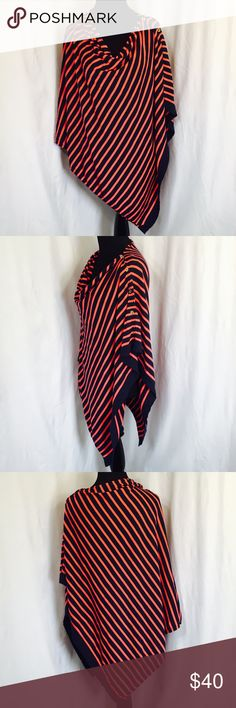 Lilly Pulitzer Harp Wrap Navy & coral striped Wrap with gold buttons. Wear it as a top or unbutton for a light blanket. Excellent condition. 100% Cotton Lilly Pulitzer Tops