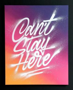 Stunning lettering artwork by @itsaliving for his solo show 'transitions'