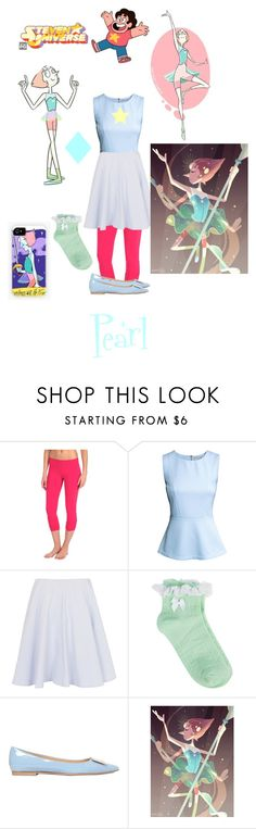 """Steven Universe {Pearl}"" by miranda-x ❤ liked on Polyvore featuring Beyond Yoga, H&M, French Connection, Oasis and Roger Vivier"