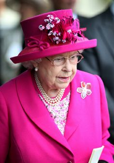 Queen Elizabeth, June 21, 2014 in Angela Kelly   Royal Hats...Royal Ascot Day 4....Posted on June 21, 2014 by HatQueen