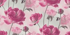 Krystal (97620) - Albany Wallpapers - Krystal is a photographic filtered floral following trends for fragmented imagery. A classic floral in vibrant shades of Raspberry sit on a soft grey and pink pixelated background. Please request a sample for true colour match.