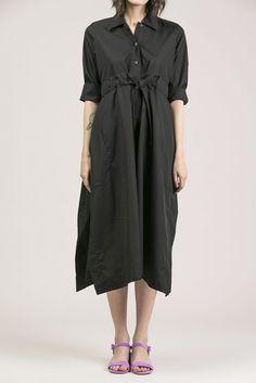 3/4 Sleeve Baggy Dress by Veronique Leroy @ Kick Pleat #kickpleat #veroniqueleroy