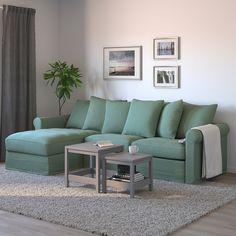 GRÖNLID 3 seater sofa bed - with lounge chair, Ljungen light green - IKEA- GRÖNLID Canapea extensibilă 3 locuri – cu șezlong, Ljungen verde deschis – IKEA GRÖNLID 3 seater sofa bed – with lounge chair, … - 3 Seat Sofa Bed, Sofa Bed With Chaise, Sleeper Sofa, Sofa Beds, Sofa Back Cushions, Deep Seat Cushions, Sofa Bed Mechanism, Ikea Family, 54 Kg