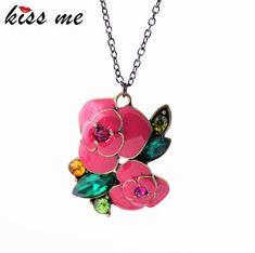 Rose Pendant Necklace Fashion accessories