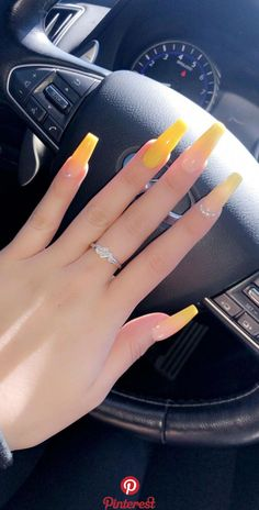 32 Lovely Jelly Nails Ideas That You Should Try! 32 Lovely Jelly Nails Ideas That You Should Try! Summer Acrylic Nails, Best Acrylic Nails, Acrylic Nail Designs, Summer Nails, Coffin Acrylic Nails Long, Acrylic Nails Yellow, Acrylic Art, Spring Nails, Aycrlic Nails