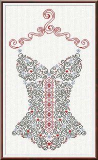 ALESSANDRA-ADELAIDE: CORSETTO cross-stitch