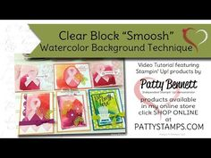Video Tutorial for Watercolor Smoosh Background with Ribbon of Courage bundle - Patty's Stamping Spot