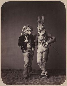 Fancy dress costumes, Germany, 1860s
