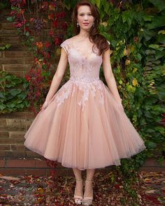 Elegant Tea Length Champagne Lace Prom Dresses Sexy Cap Sleeve Zipper Evening Dresses 2016 Real Photo Women Party Dresses Formal Gowns,PD160341