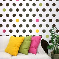 Wall stencil Polka Dot Allover LG (need a much smaller version of this!!)
