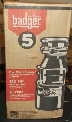 garbage disposals new badger 5 food waste disposal 1 2hp heavy duty motor - Badger 5