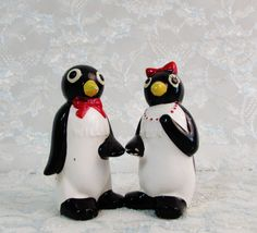 Penguin Salt Pepper Shakers, Millie and Willie Salt and Pepper Shakers, Vintage Salt Pepper Shakers, For the home, Kitchen and Dining by BeanzVintiques on Etsy