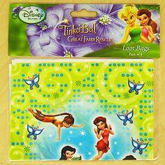 Disney Princess 1st Birthday Plastic Loot Bags 22cm x 16cm 8ct