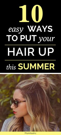 10 easy ways to put your hair up that aren& a ponytail, Summer Hairstyles, 10 easy ways to put your hair up that aren& a ponytail Source by bprovancha. Good Hair Day, Great Hair, Summer Hairstyles, Pretty Hairstyles, Easy Hairstyles, Amazing Hairstyles, Hairstyles 2016, My Hairstyle, Belleza Natural