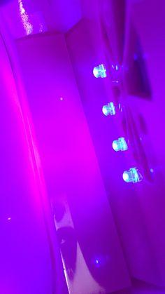 UV lights shining onto a neon coloured surface