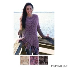 Simply Noelle Knubby Knit Poncho great for this wonderful fall weather!