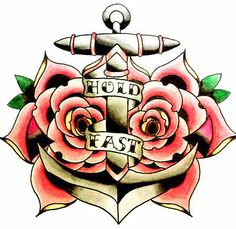 #Anchor #Roses #HoldFast #Drawing