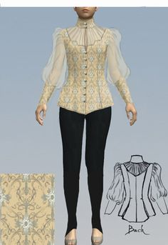 Victorian  Blouse by Amber Middaugh