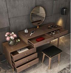 Dressing Table Modern, Bedroom Dressing Table, Dressing Table Vanity, Make Up Tisch, Home Furniture, Furniture Design, Casa Loft, Luxurious Bedrooms, Small Apartments