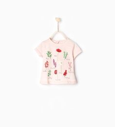 Botanical print T-shirt-Tops-Baby girl | 3 months-4 years-COLLECTION SS16 | ZARA Hungary