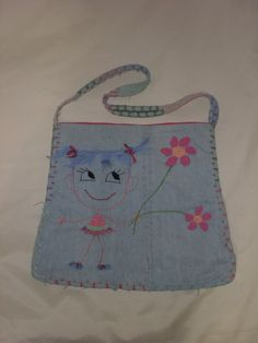 Your place to buy and sell all things handmade Denim Bag, Little Girls, Buy And Sell, Flowers, Handmade, Bags, Stuff To Buy, Etsy, Jean Bag
