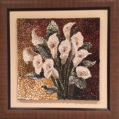 Pebble Mosaic, Mosaic Diy, Mosaic Crafts, Mosaic Projects, Stone Crafts, Rock Crafts, Dot Painting, Stone Painting, Seed Art